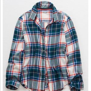 Aerie Flannel Pajama Top
